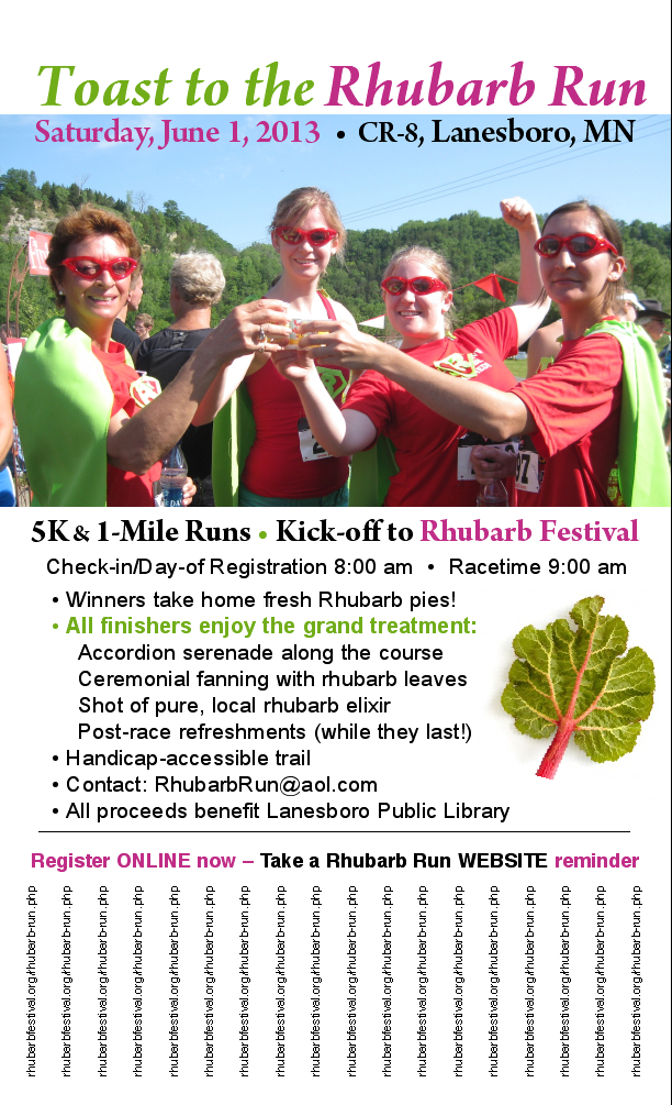 Rhubarb Run Poster Clipping